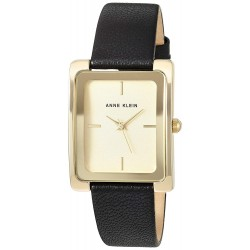 Anne Klein Goldtone and Black Leather